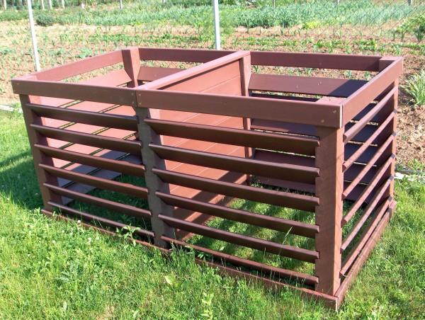 """Vario""-Komposter Doppelbox 2 x 1000 Liter"